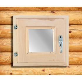 Окно, 30×30см, двойное стекло, из липы Ош