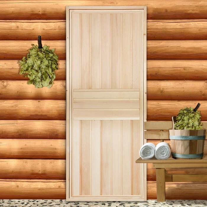 """Дверь для бани """"Вертикаль"""", 180×70см, """"Добропаровъ"""""""