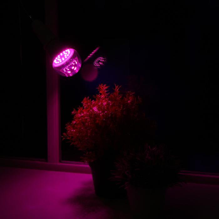 Лампа светодиодная для растений Uniel, Е27, А60, 9 Вт, 110 мм, прозрачная