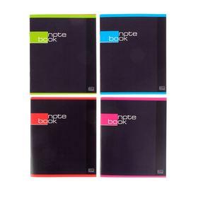Тетрадь 48 листов в клетку «Строгая тетрадь», картонная обложка, выборочный УФ-лак, МИКС