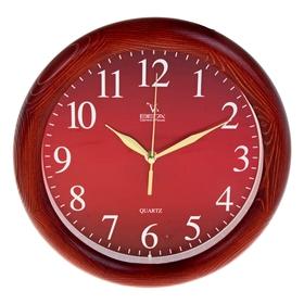 Часы настенные, серия: Классика, 'Классика', деревянный обод, 30х30 см Ош