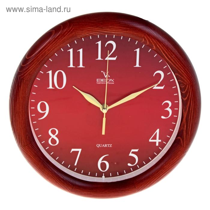 """Часы настенные, серия: Классика, """"Классика"""", деревянный обод, 30х30 см"""