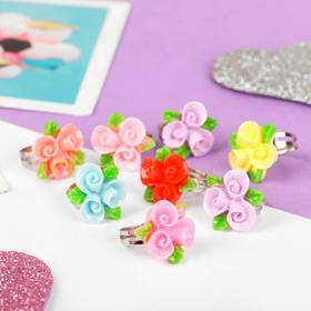 Кольцо детское 'Выбражулька' цветочный букет, цвет МИКС, безразмерное Ош