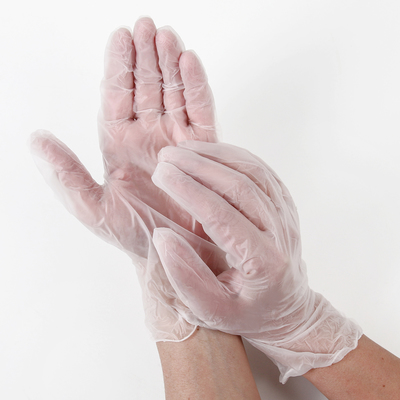 Перчатки A.D.M. виниловые, одноразовые, неопудренные, размер L, 100 шт/уп, 10 г - Фото 1