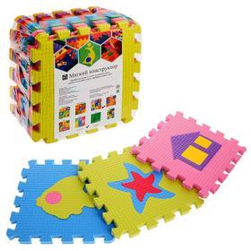 Детский коврик-пазл «Два ежа», упаковка МИКС
