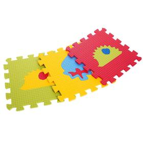 Детский коврик-пазл «Два ежа» (мягкий), 9 элементов 33 х 33 х 0,9 см