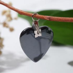 Подвеска 'Гематит' сердце малое Ош