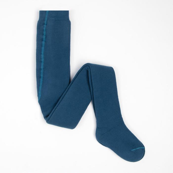 Колготки детские махровые, цвет джинсовый, рост 122-128 см