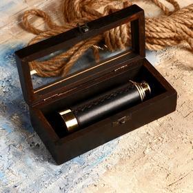 Сувенирная подзорная труба в шкатулке 'Рыцарь', линза 4x Ош