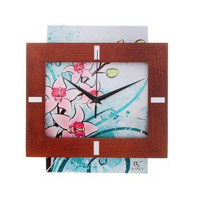 Часы настенные, серия: Классика, 'Grance', цветок, венге Ош