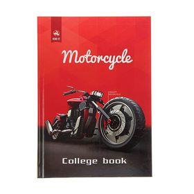 Колледж-тетрадь А5, 160 листов клетка 'Мотоцикл', твердая обложка Ош