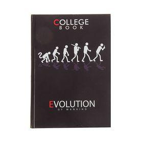 Колледж-тетрадь А5, 160 листов клетка 'Эволюция', твердая обложка Ош