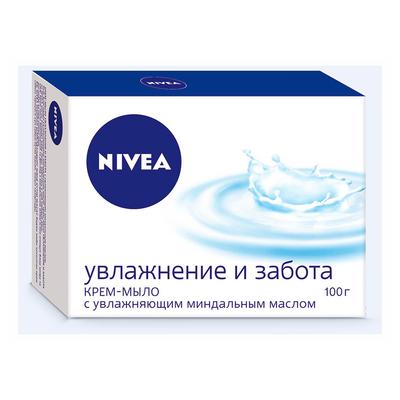 Мыло Nivea «Увлажнение и забота»,100 г - Фото 1