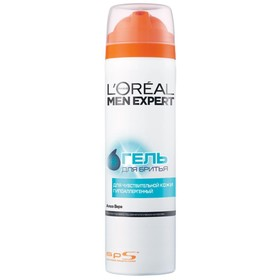 Гель для бритья L'Oreal Men Expert, для чувствительной кожи, 200 мл