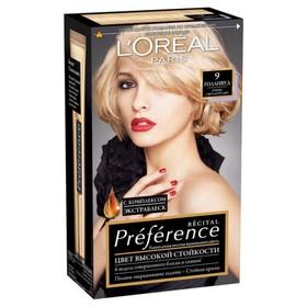 Краска для волос L'Oreal Preference Recital «Голливуд», тон 9, очень светло-русый