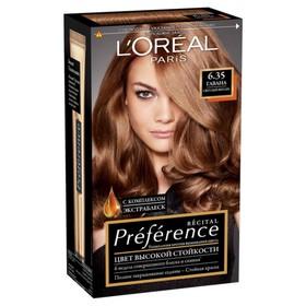 Краска для волос L'Oreal Preference Recital «Гавана», тон 6.35, светлый янтарь