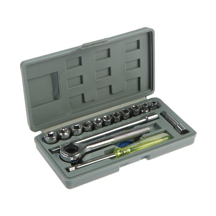Набор инструментов в кейсе TUNDRA, универсальный, 14, 16 предметов