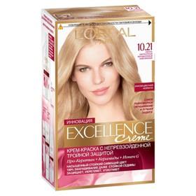 Крем-краска для волос L'Oreal Excellence Creme, тон 10.21, светло-светло русый перламутровый