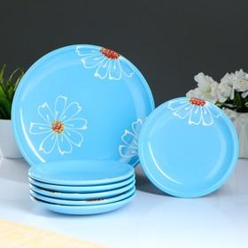 Набор для блинов 'Псковский', 7 предметов: d=24 см, 16 см, цвет голубой Ош