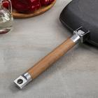 Сковорода-гриль, 24×24 см, съёмная ручка, без крышки - Фото 3