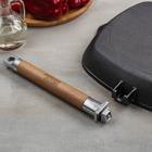 Сковорода-гриль, 24×24 см, съёмная ручка, без крышки - Фото 4