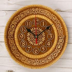 Часы, 21×21 см, береста Ош