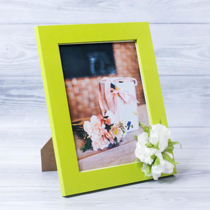Фоторамка «От всей души» 15 × 20 см, с цветочным декором