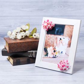 Фоторамка «Для любимой» 15 × 20 см, с цветочным декором Ош