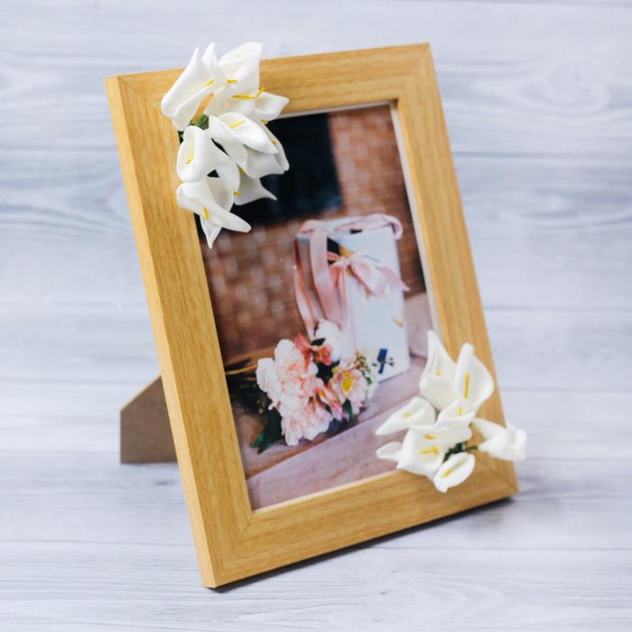 Фоторамка «Для тебя» 15 × 20 см, с цветочным декором