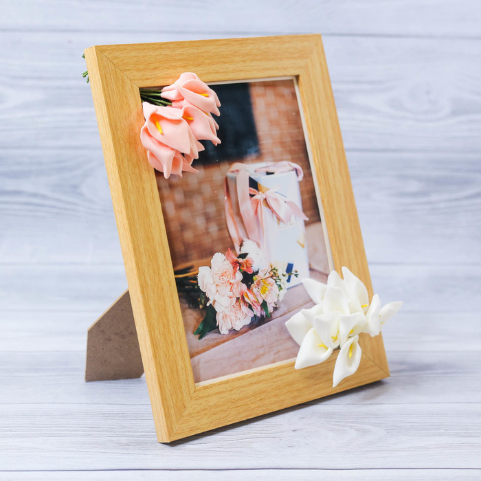 Фоторамка «Нежность» 15 × 20 см, с цветочным декором
