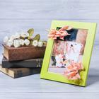 Декоративная фоторамка–панно «Счастья, тепла» с цветами, 15 × 20 см