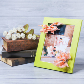 Фоторамка «Для тебя с любовью» 15 × 20 см, с цветочным декором Ош