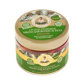 Мыло для волос и тела для бани Рецепты бабушки Агафьи ореховое, 300 мл