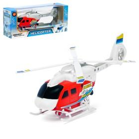 Вертолёт заводной «Спасатель», световые и звуковые эффекты, цвет МИКС