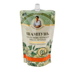 Шампунь для волос Травы и Секреты Агафьи «Укрепление и рост волос», на основе чёрного мыла, дой-пак, 500 мл
