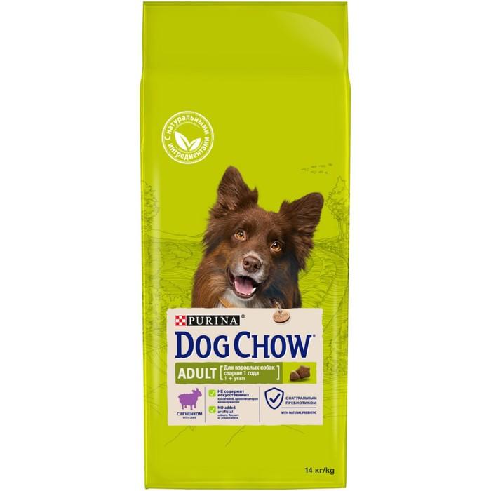 купить Сухой корм DOG CHOW для собак, ягненок, 14 кг