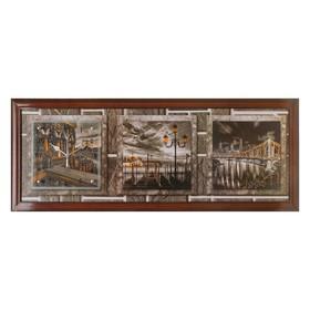 Часы-картина настенные, серия: Город, 'Story Bridge', 35х100  см, микс Ош