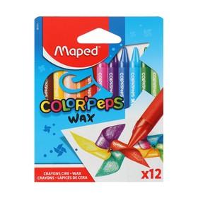 Мелки восковые 12 цветов, Maped Color'peps wax
