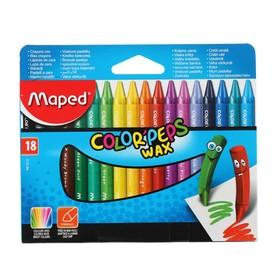 Мелки восковые 18 цветов, Maped Color'Peps Wax