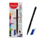 Ручка капиллярная GRAPH PEP'S, чернила синие, узел 0.4 мм, трехгранная