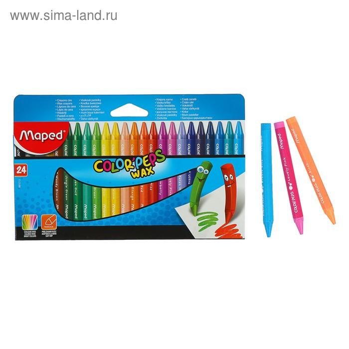 Мелки восковые 24 цвета, Maped Color'Peps Wax