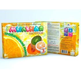 """Набор для изготовления мыла """"Мыльная мастерская. Тропический микс"""", красители 5 мл: оранжевый, синий"""