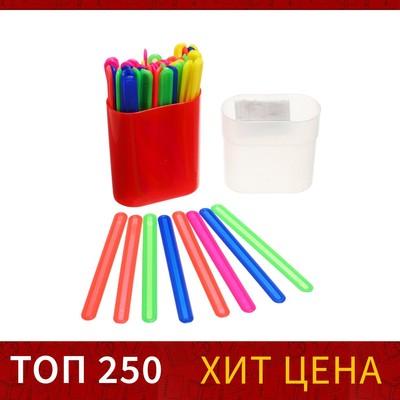 Счетные палочки 50 штук, микс, в пластиковом пенале - Фото 1