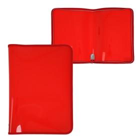 Папка пластиковая А4, молния вокруг, «Офис», цветная, текстура поверхности «песок», ПМ-А4-11, красная Ош