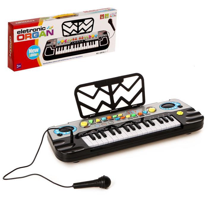 """Синтезатор """"Маленький музыкант"""", с микрофоном, 32 клавиши."""