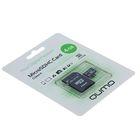 Карта памяти Qumo microSD, 4 Гб, SDHC, класс 4, с адаптером SD