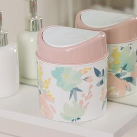 Контейнер для мусора Полимербыт «Флёр», 1 л, цвет МИКС Ош