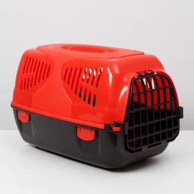 Переноска для животных  'Сириус', 33,5х31х50 см, цвет красный Ош