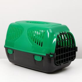 Переноска для животных  'Сириус', 33,5 х 31 х 50 см, цвет зелёный Ош