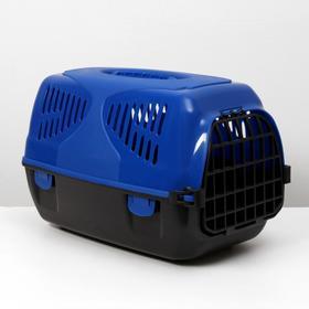 Переноска для животных  'Сириус', 33,5 х 31 х 50 см, цвет синий Ош